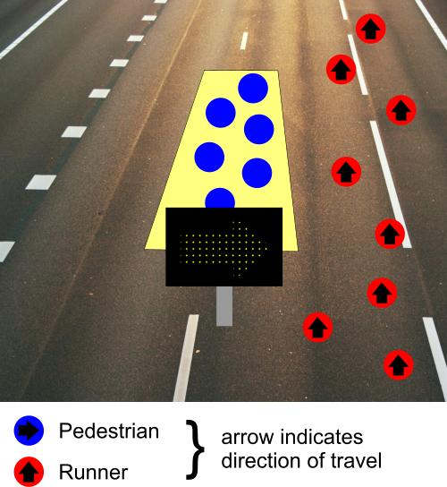 Road race pedestrian crossing 2