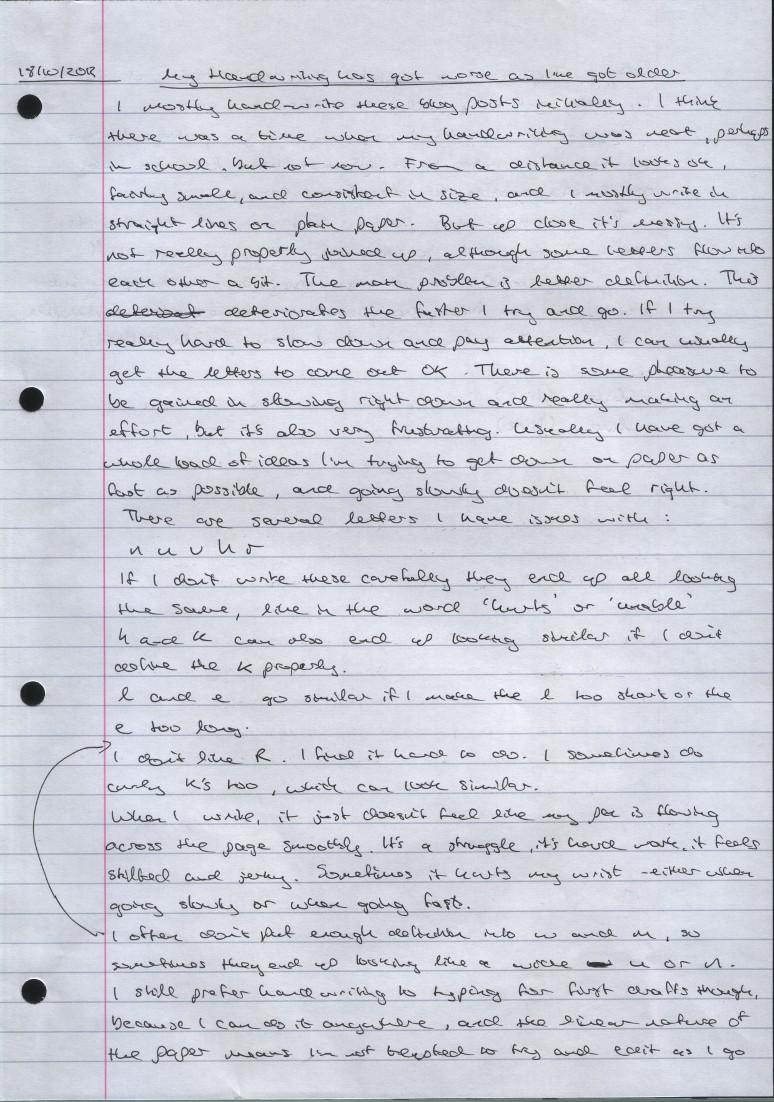 handwriting page